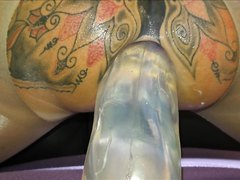 TattooedMILF Gets New DIldo