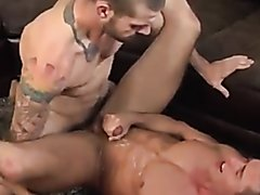 Jock takes two loads of spunk
