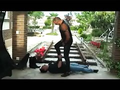 Master trampling his slave