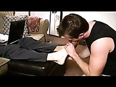 Sexy boss feet slave