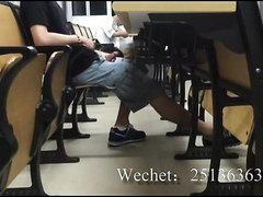 Public jerk off in university classroom