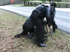 Policemen arrest
