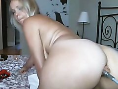 Phat ass blonde anal machine