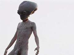 Huge dick alien fucks a chick in strange porno