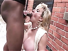 Married Lady Sonia takes creampie from big black cock