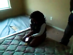 Slutty black girl lets guys take turns on her