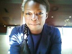 Cute ebony flashing in public