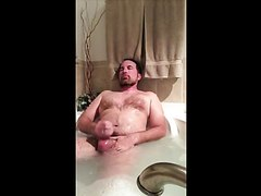 bear jerks off in tub