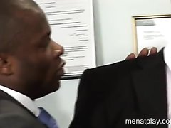 Boss Breeds black man in office