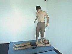 Russian boy trampling a slave