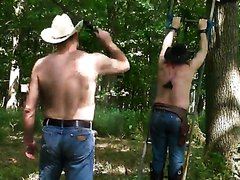 sillycowboys whipping in the woods