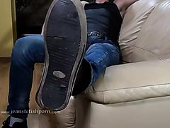 BOY IN JEANS - LICK MY DIRTY SNEAKERS !!!