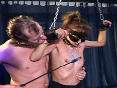 Sex slaves getting fucked in hot group video
