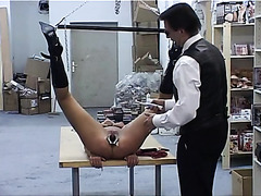 BDSM pain and fisting of sub girl