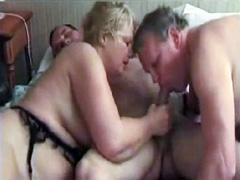 Her bisexual husband gets ass fucked