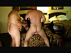 Homemade mature cuckold sex with creampie cleanup