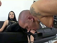 Mistress and two slaves have a kinky threesome