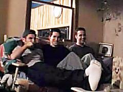 Three kinky boys play at home