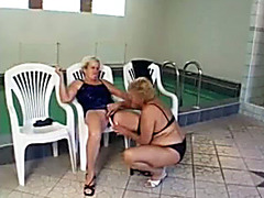 Granny lesbian sex and pissing fun