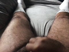 Jerk off in Nikes with cum