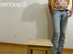 wetting extremely tight tally weijl jeans while learning english ;-)