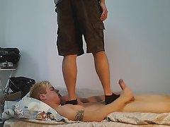 JORDAN TRAMPLING AND FOOTJOB WITH SOCKS