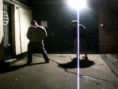 guys pee in alley