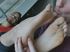 Hot foot worship with friend