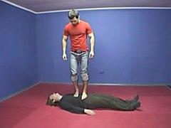 Russian master trampling slave