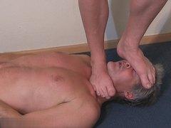 Big guy trampling slave