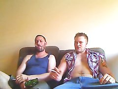 Aussie guy and his mate smoke reds