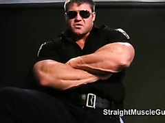 Muscle Cop Shows Off