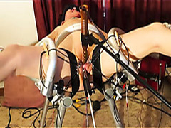 Bound slave woman in BDSM session