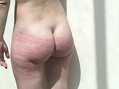 Hard whipping of her sexy slave ass