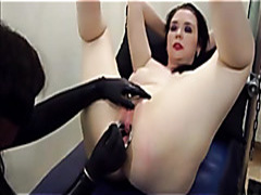 Kinky girl cums from female urethral sounding