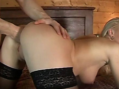 Ass fucked and anally fisted blonde babe