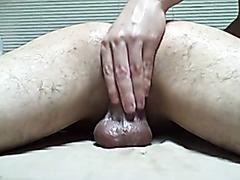 Erotic massage of his amateur asshole