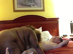 Black BBW sits on my cock and rides