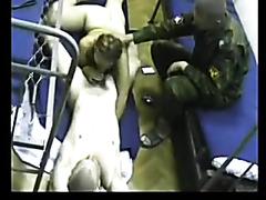 Russian soldier fucks a prostitute in the barracks