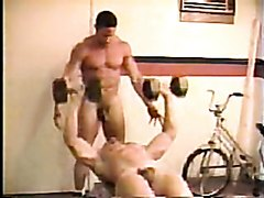 Muscle twins natural workout and duo shower