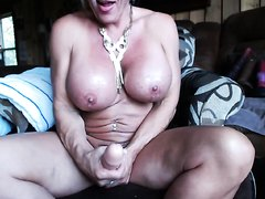 Muscled MILF Pumps and Plays part 3