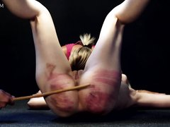 M... caning for blonde and her girlfriend