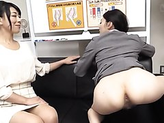 Anal training for a shy Japanese girl