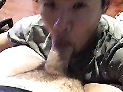 Young Asian Faggot Loves White Cock