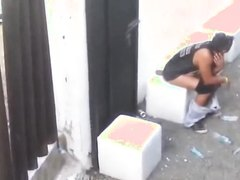 Man Taking A Shit Outside - video 6