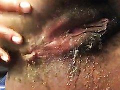 Ebony anal scat play