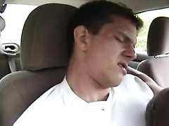 Marky Mark Lookalike Cums While Friend Eats It