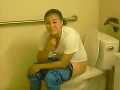Lesbian caught peeing