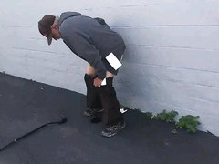 Man Taking A Shit Outside - video 8