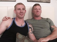 Two Hot Muscular Blonds Bareback